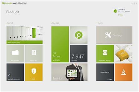 interfejs aplikacji File Audit
