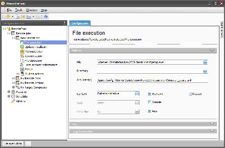 interfejs aplikacji Remote Exec